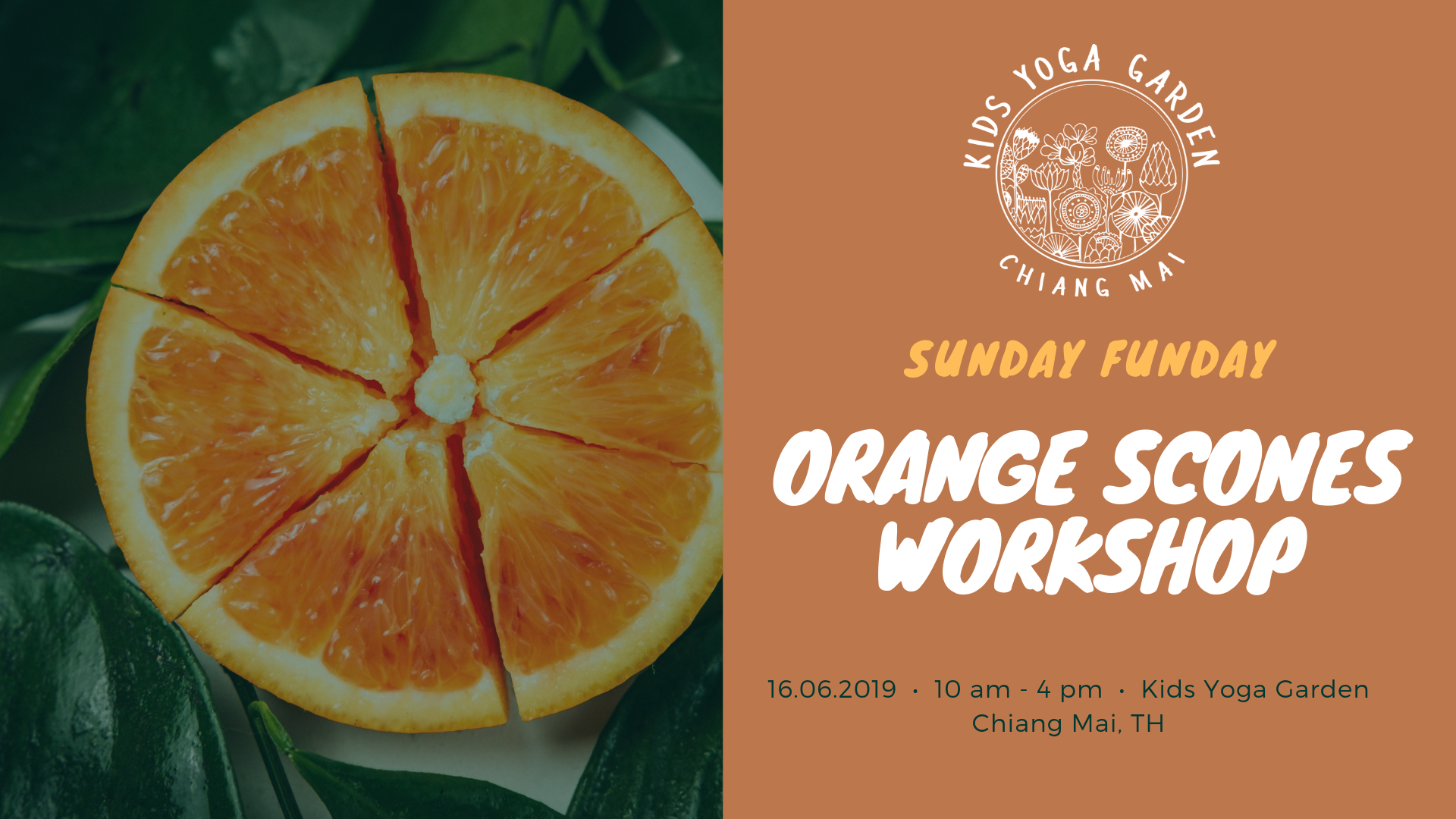 orange scones workshop